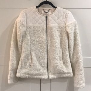 NWOT Prana shearling quilted jacket